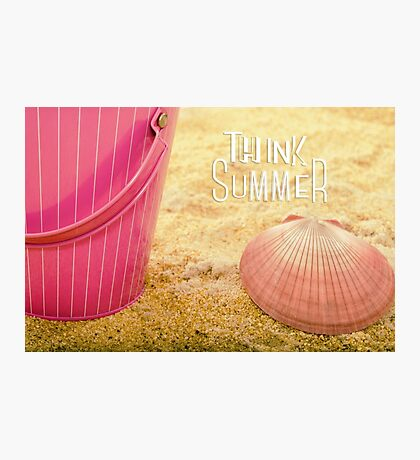 Think Summer Pink Photographic Print