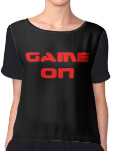 Game Over - Game On - Computer T-Shirt Chiffon Top