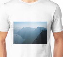 Early Morning Fog Over Crater Lake Unisex T-Shirt