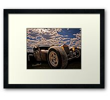 Lowbrow Rat Rod - How Low Can U Go Babe Framed Print