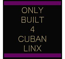 Only Built 4 Cuban Linx Photographic Print