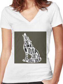Direwolves Women's Fitted V-Neck T-Shirt