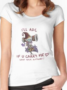 adc e support <3 Women's Fitted Scoop T-Shirt