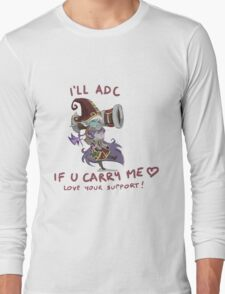 adc e support <3 Long Sleeve T-Shirt