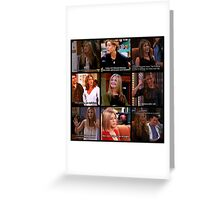 Rachel Green Quotes Collage Greeting Card