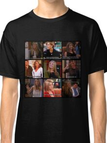Rachel Green Quotes Collage Classic T-Shirt