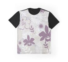 Flowers in Mauve and Grey, #redbubble, #design, #pattern  Graphic T-Shirt