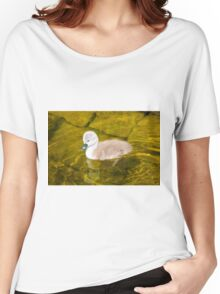One Cygnet/Baby Swan Paddling Women's Relaxed Fit T-Shirt