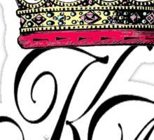 karma arts uk - crown k-a Sticker