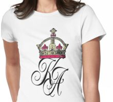 karma arts uk - crown k-a Womens Fitted T-Shirt