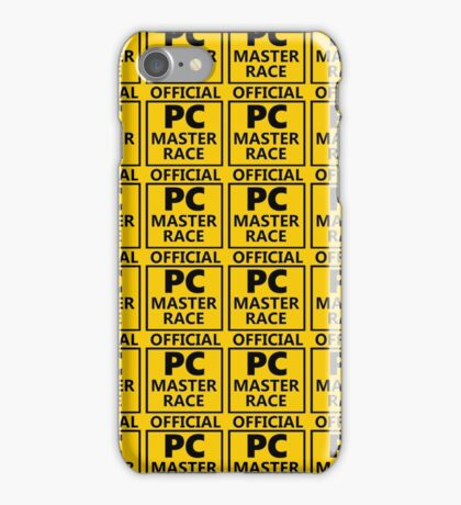 pc master race sheets iPhone Case/Skin