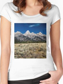 Grand Tetons Women's Fitted Scoop T-Shirt