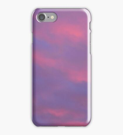 pink blue and purple sunset iPhone Case/Skin