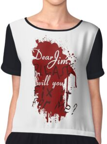 Dear Jim, Fix It For Me Women's Chiffon Top