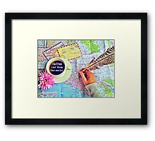 Coffee and Then The World Framed Print