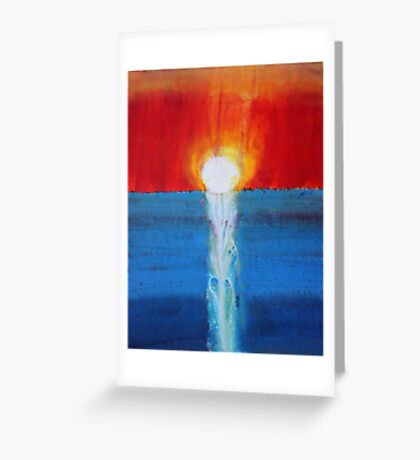 Incandescence original painting Greeting Card