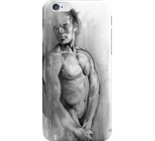 Resting - Conté Drawing iPhone Case/Skin