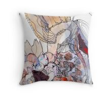 Impression of a  Musical  Fairy In The Garden  Throw Pillow