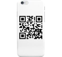 Keep mobile devices away in a QR Code (Black) iPhone Case/Skin