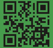 Keep mobile devices away in a QR Code (Black) Kids Tee