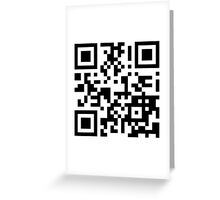 Keep mobile devices away in a QR Code (Black) Greeting Card