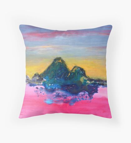 Watching Sunset (in the Other World) Throw Pillow