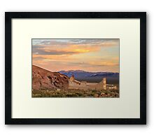 Rhyolite Bank At Sunset Framed Print