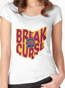 Break The Cleveland Curse Women's Fitted Scoop T-Shirt