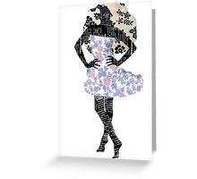 Paris Girl 1 - Fashion Floral Dress Greeting Card