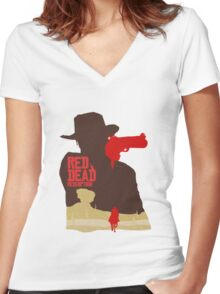 Red Dead Redemption #4 Women's Fitted V-Neck T-Shirt
