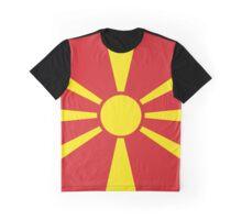 Macedonia Flag Banner Graphic T-Shirt