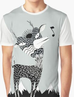 Singing Deer of the Shaggy Mountains Graphic T-Shirt