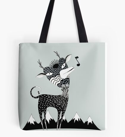 Singing Deer of the Shaggy Mountains Tote Bag
