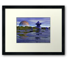Vacation by the Sea - Fractal Alien World Framed Print