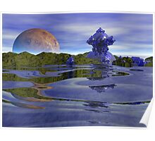 Vacation by the Sea - Fractal Alien World Poster