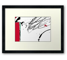 Red Splash Framed Print