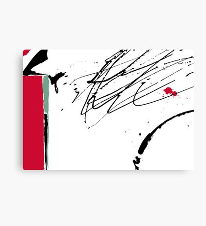 Red Splash Canvas Print