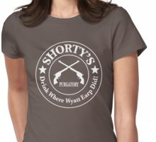 Shorty's Saloon from Wynonna Earp in white Womens Fitted T-Shirt