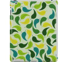 Cartoon Green Leaves iPad Case/Skin