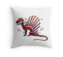 Valentine Dimetrodon Throw Pillow