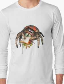 """Lunch on the Fly"" Jumping Spider Sandwich #2 Long Sleeve T-Shirt"