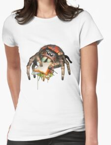 """""""Lunch on the Fly"""" Jumping Spider Sandwich #2 Womens Fitted T-Shirt"""