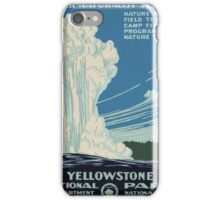 Vintage poster - Yellowstone iPhone Case/Skin