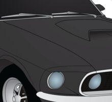 69 Boss Mustang  Sticker