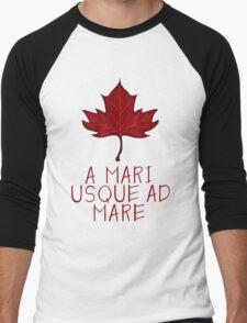 Canada Maple Leaf Motto Men's Baseball ¾ T-Shirt