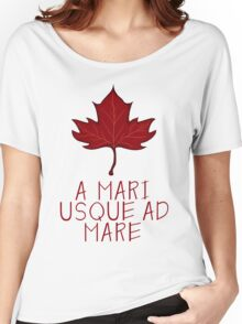 Canada Maple Leaf Motto Women's Relaxed Fit T-Shirt