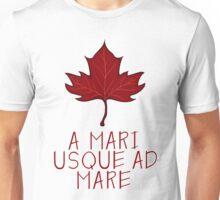 Canada Maple Leaf Motto Unisex T-Shirt