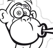 Gorilla kiffen joint Sticker