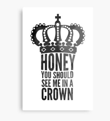 In A Crown Metal Print