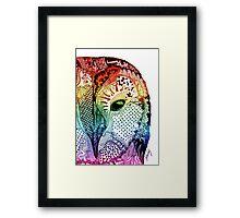 'Ancient Eye' Multicolour Framed Print